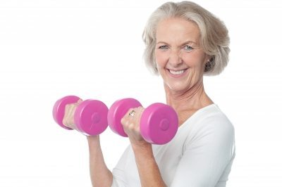senior person exercising