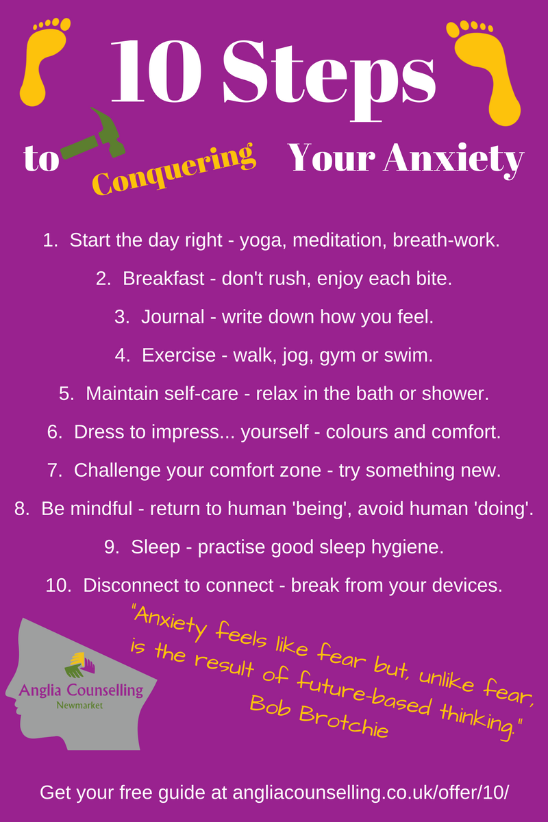 10 Steps to Conquering Your Anxiety